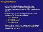 analysis design