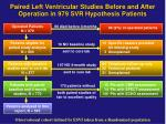 paired left ventricular studies before and after operation in 979 svr hypothesis patients