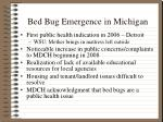 bed bug emergence in michigan
