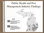 public health and pest management industry findings