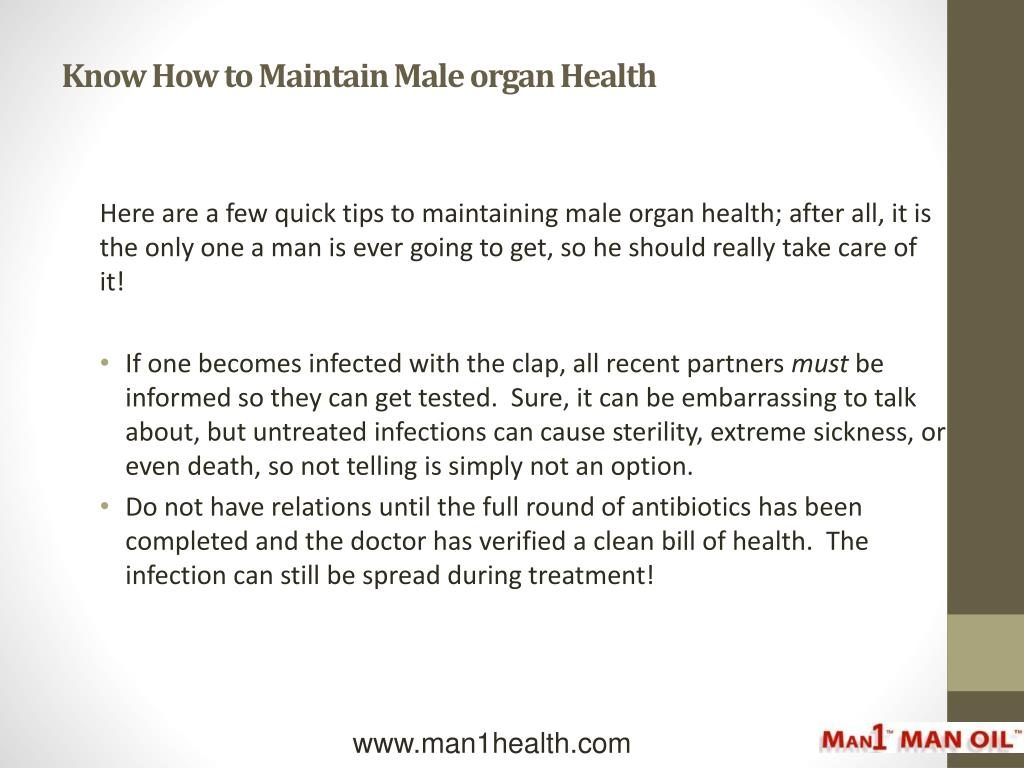 Know How to Maintain Male organ Health