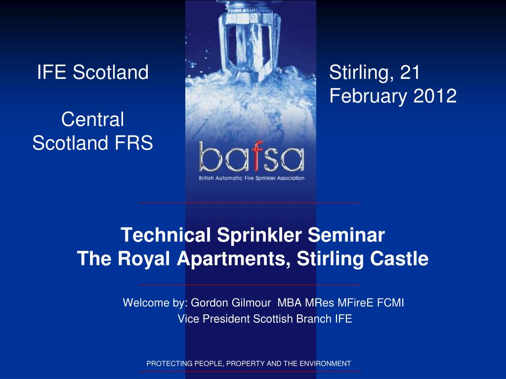 technical sprinkler seminar the royal apartments stirling castle