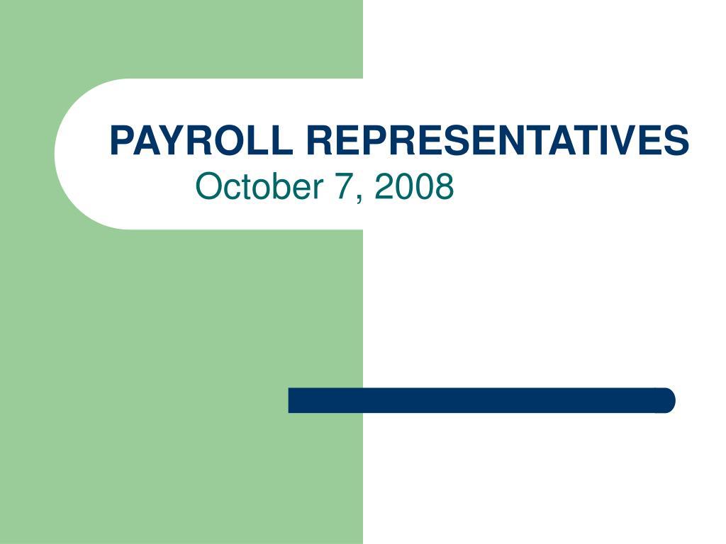 payroll representatives l.