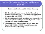 how are we impacting teaching and learning prek 818