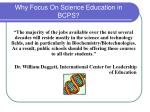 why focus on science education in bcps32