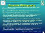 essential bibliography