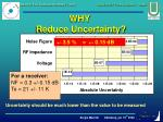 why reduce uncertainty