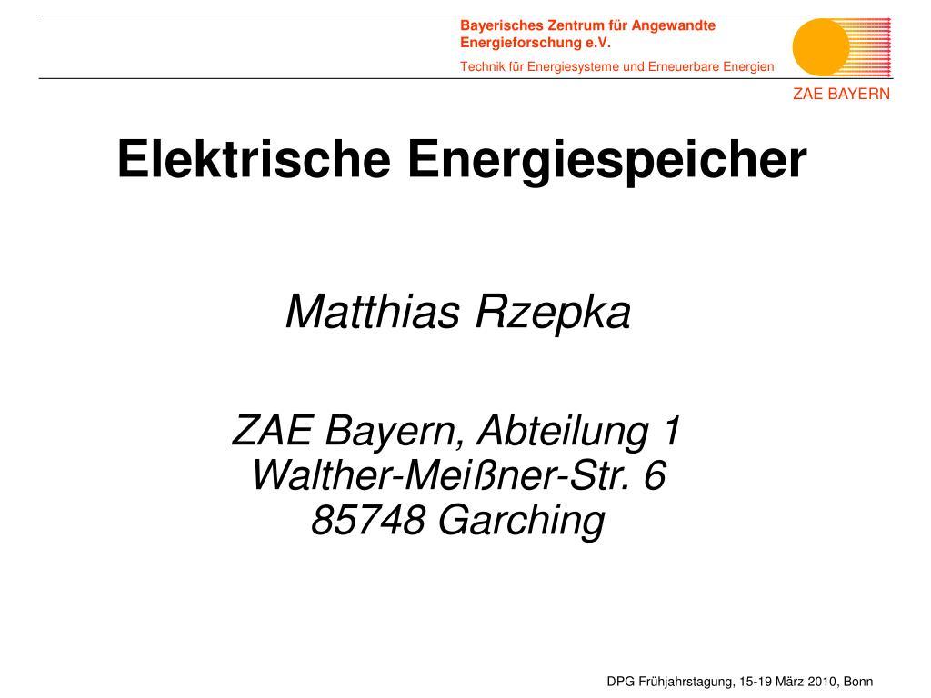 elektrische energiespeicher l.