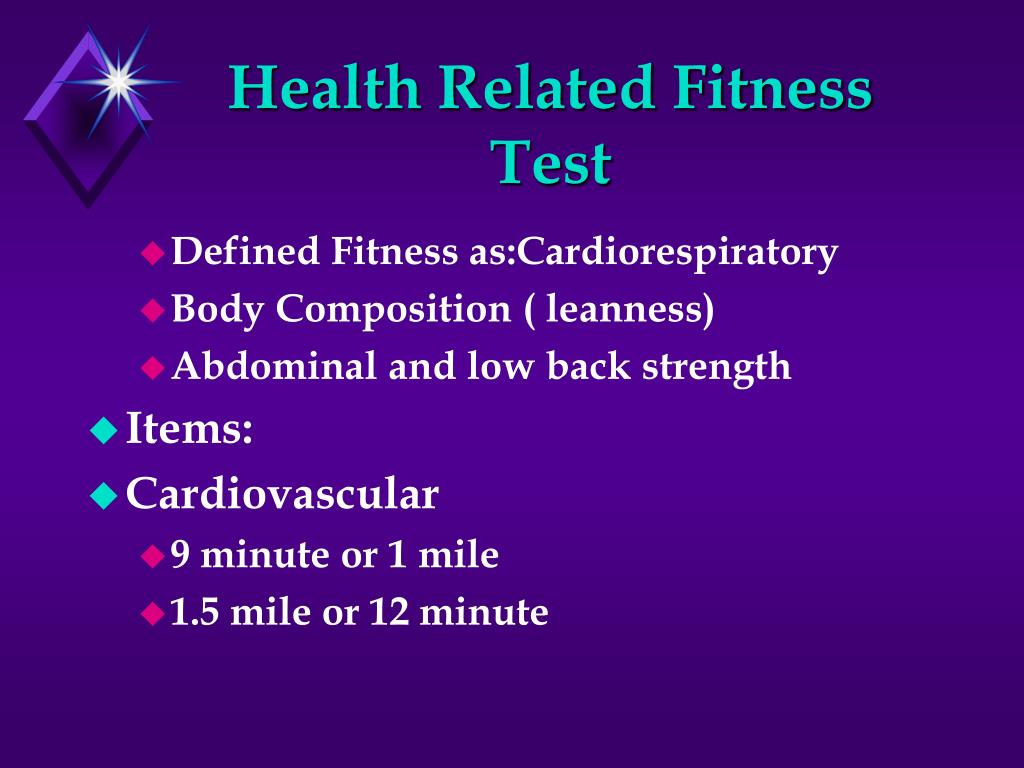 Health Related Fitness Test