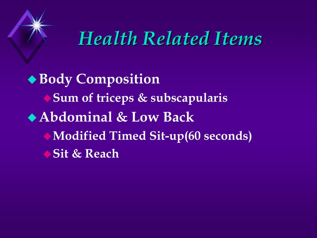 Health Related Items