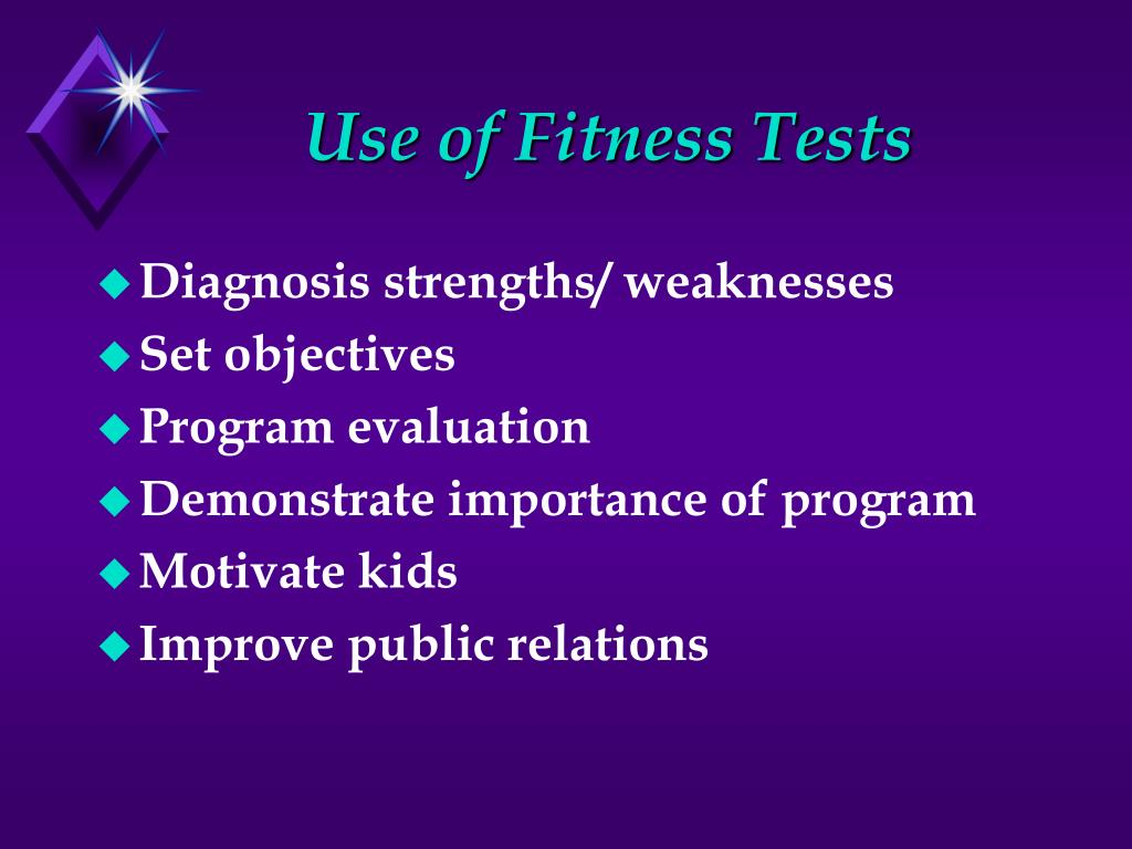 Use of Fitness Tests