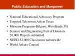 public education and manpower18