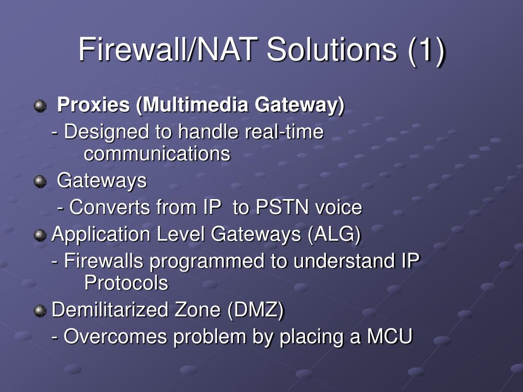 Firewall/NAT Solutions (1)