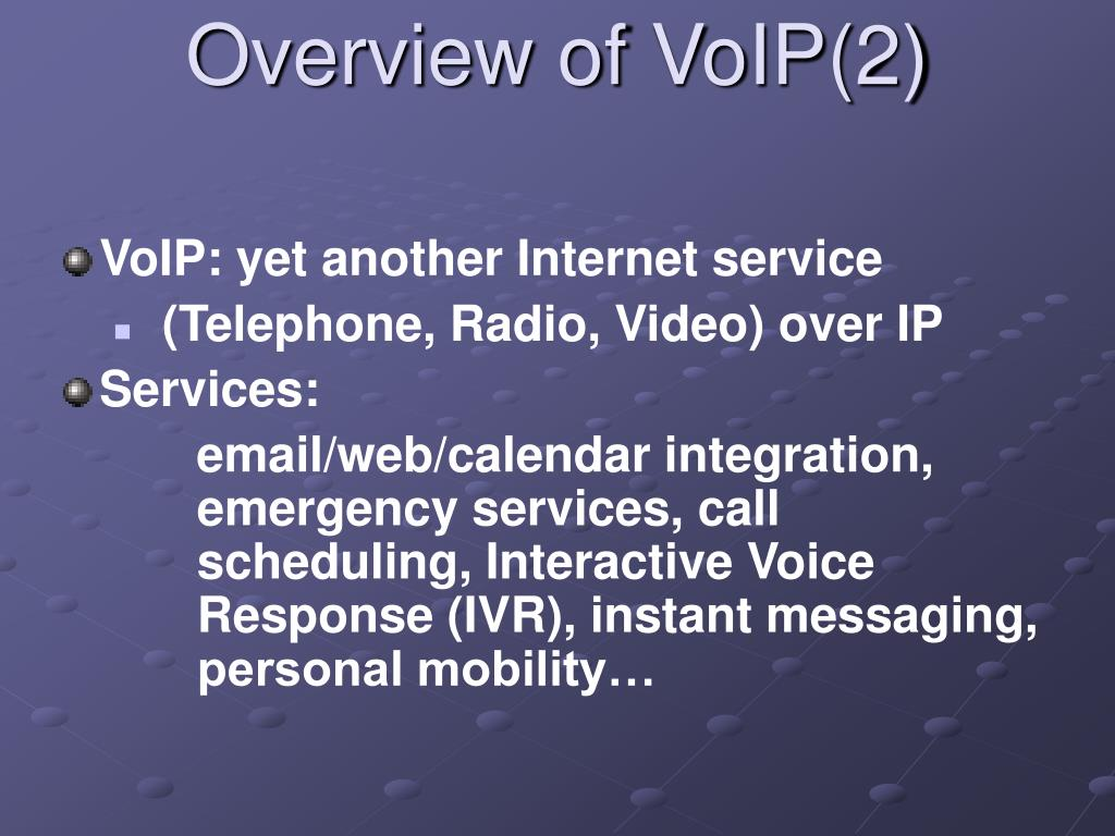 Overview of VoIP(2)