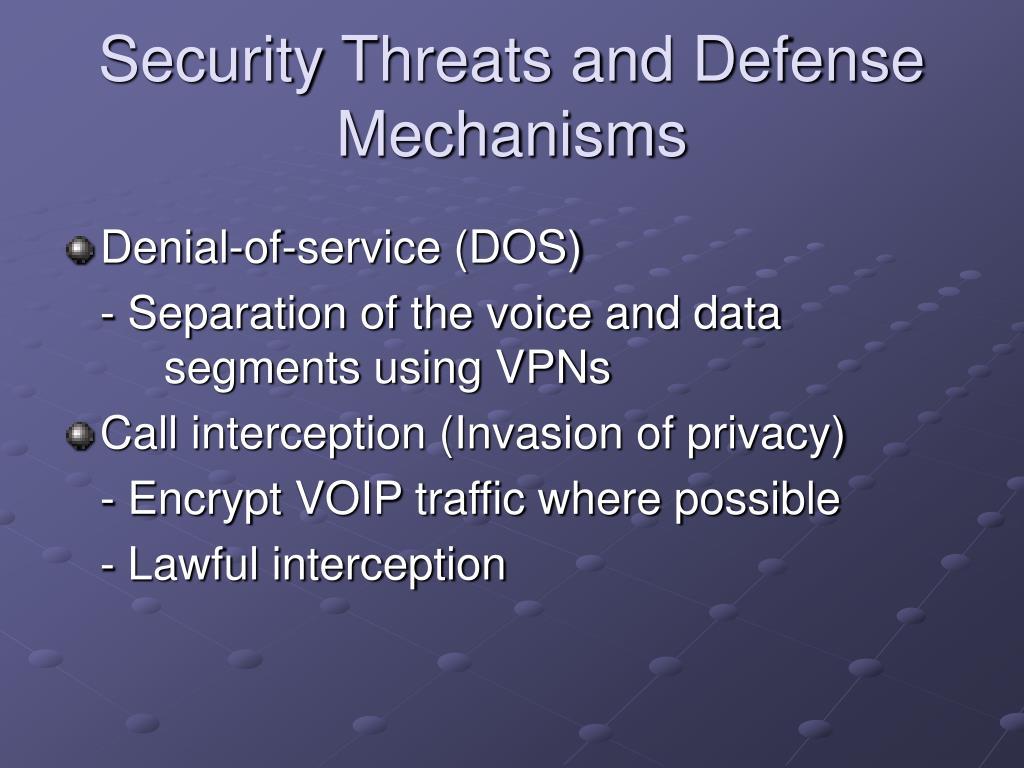 Security Threats and Defense Mechanisms