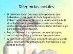 diferencias sociales