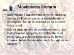 movimiento literario