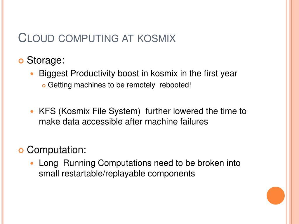 Cloud computing at