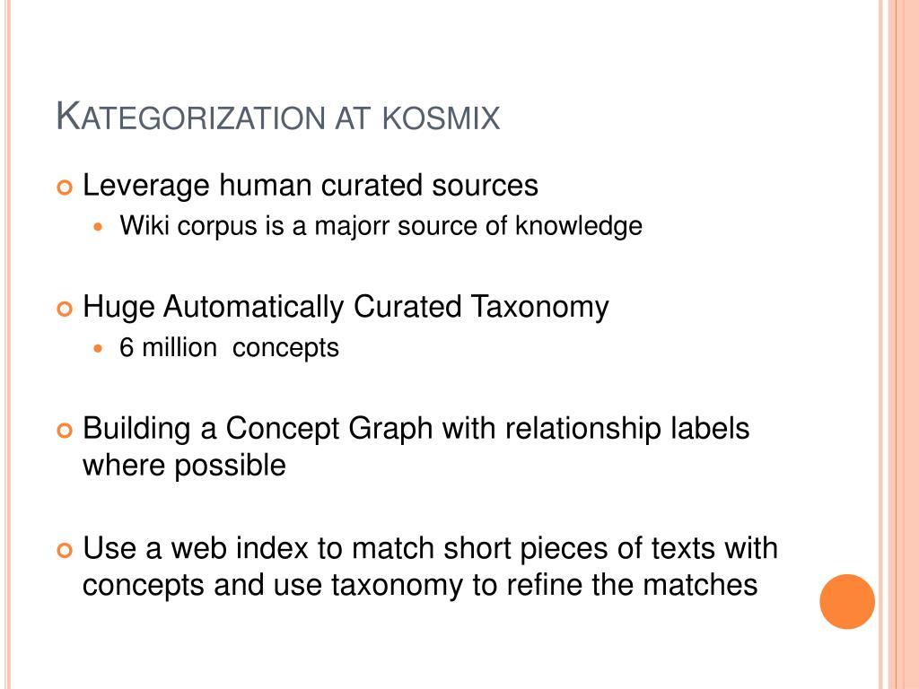 Kategorization