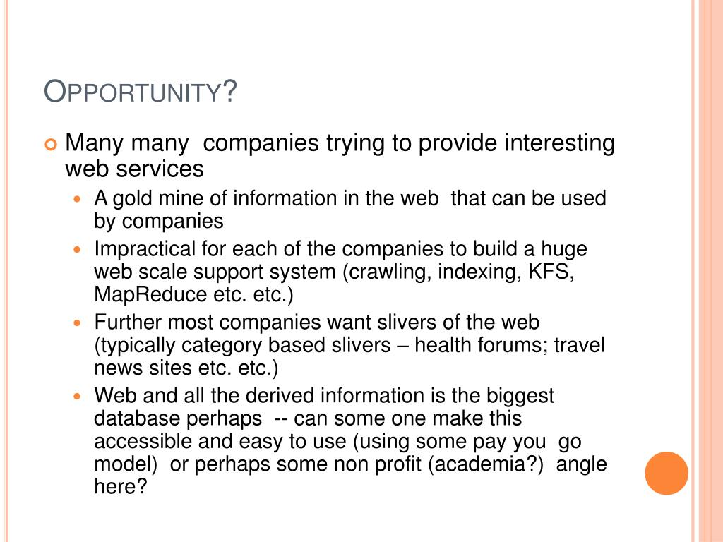 Opportunity?