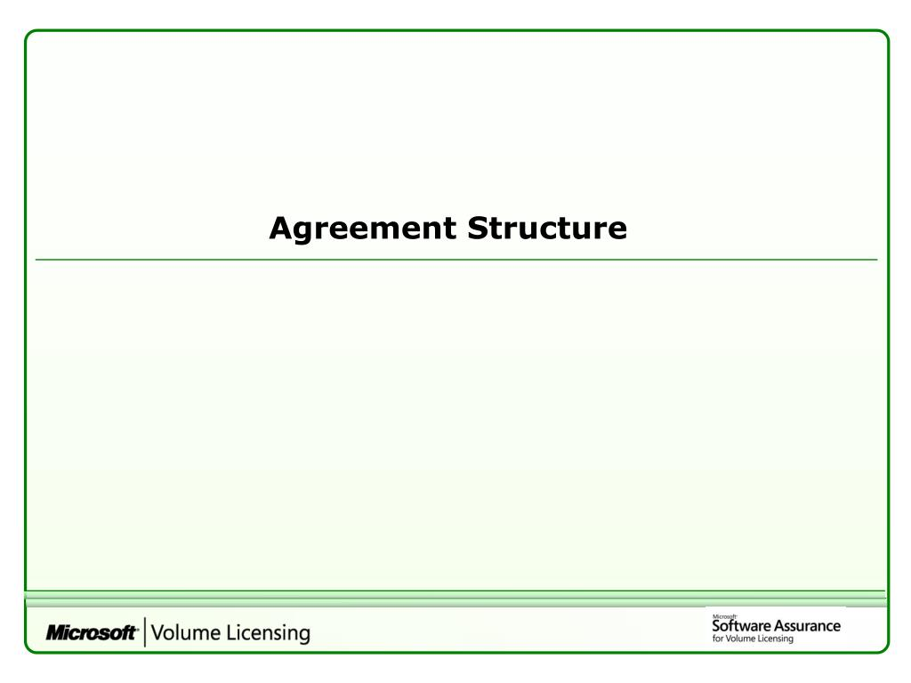Agreement Structure