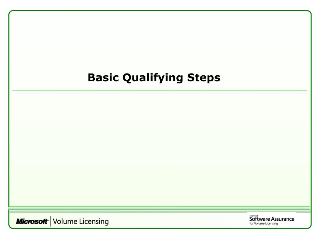 Basic Qualifying Steps