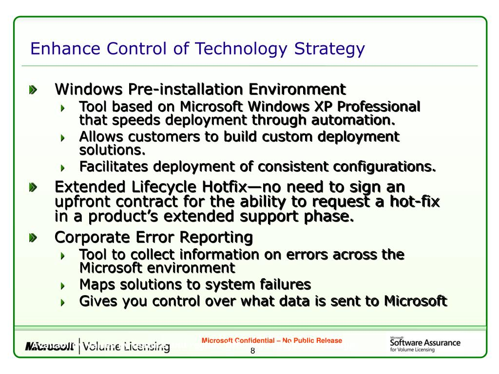 Enhance Control of Technology Strategy