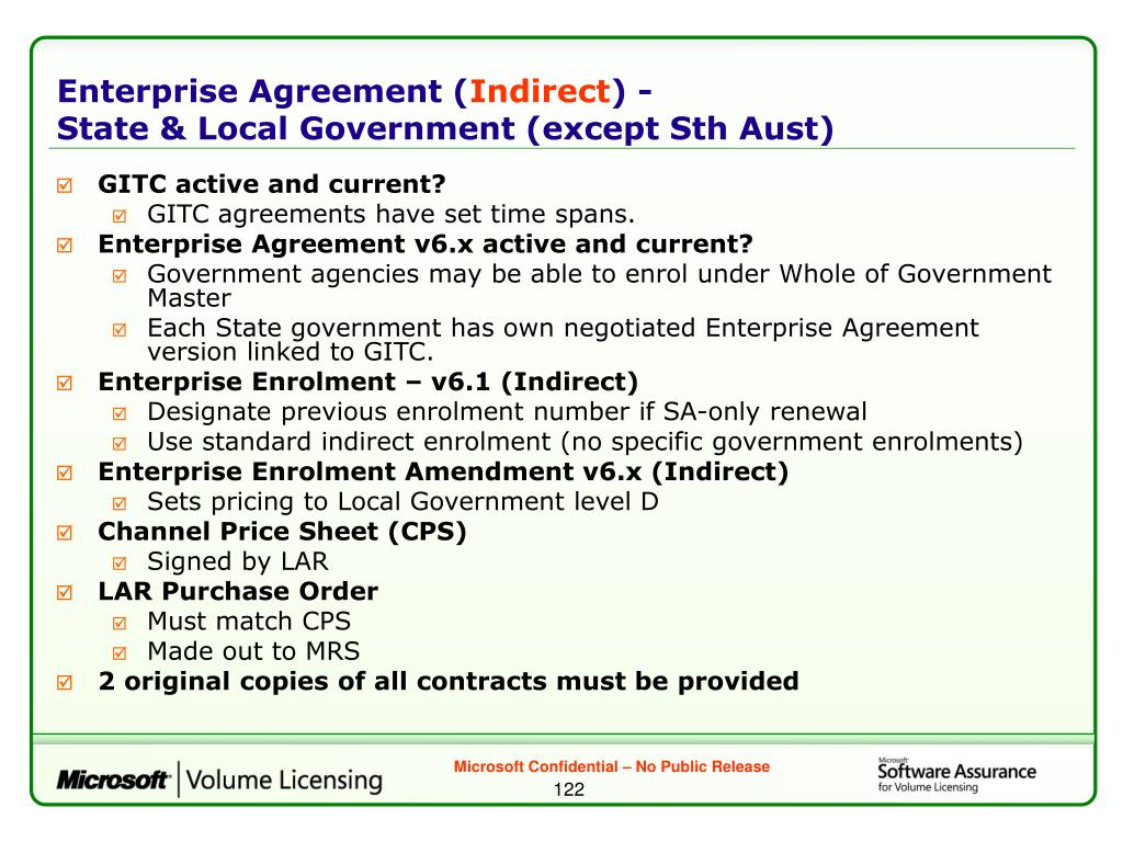 Enterprise Agreement (