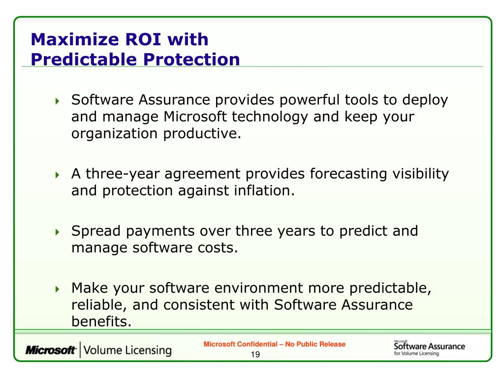 Maximize ROI with