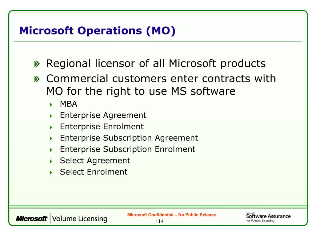 Microsoft Operations (MO)