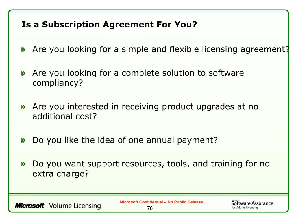 Is a Subscription Agreement For You?