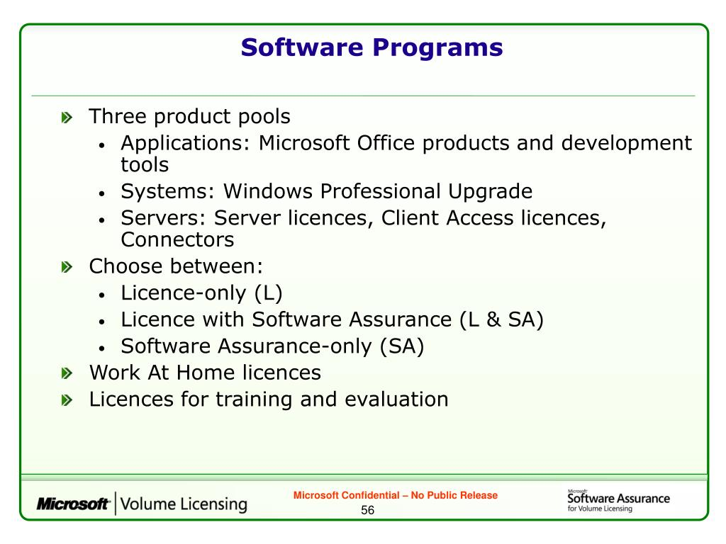 Software Programs