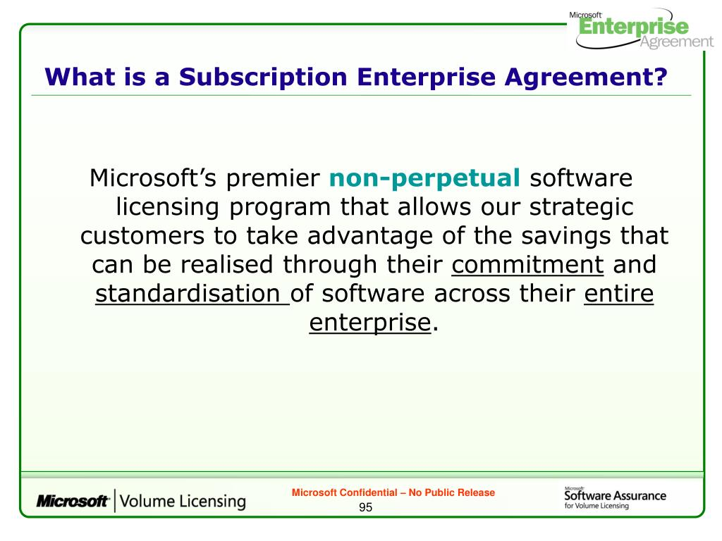 What is a Subscription Enterprise Agreement?
