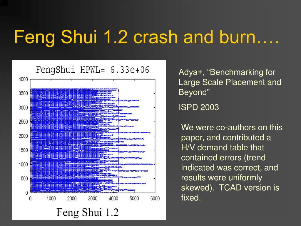 Feng Shui 1.2 crash and burn….