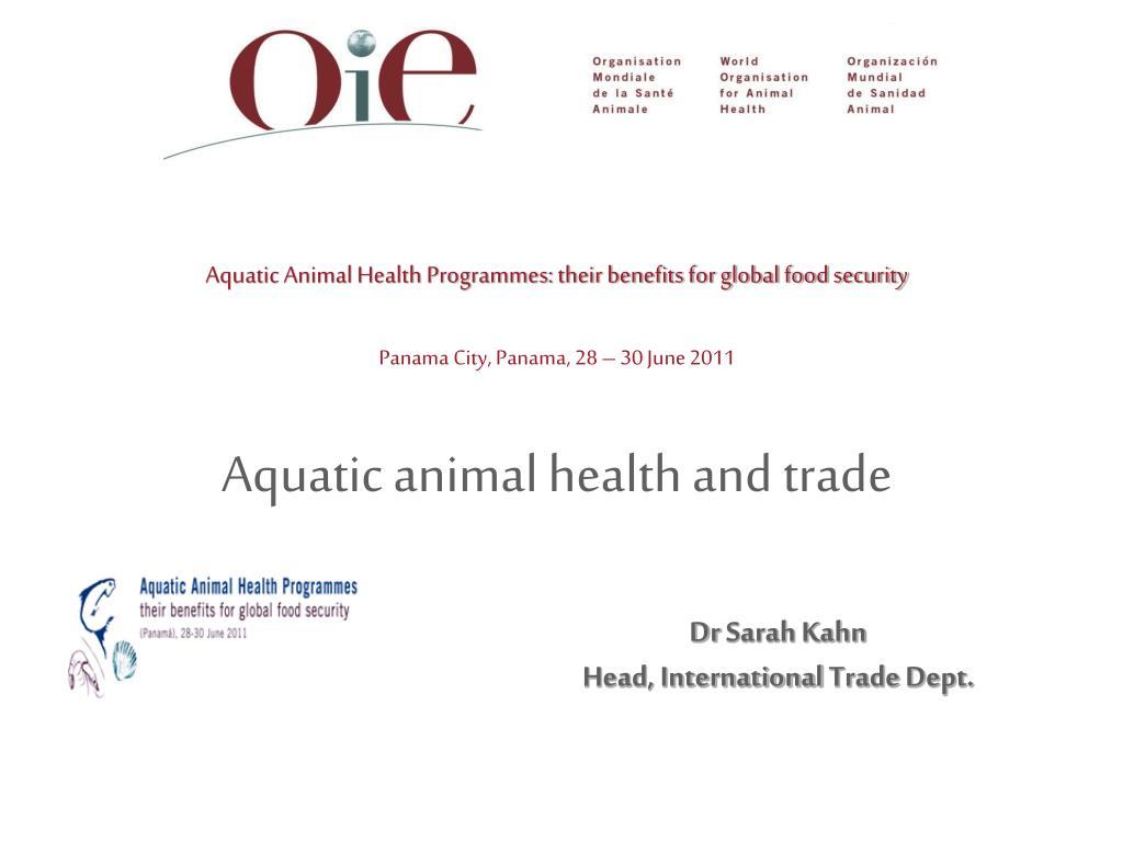 aquatic animal health and trade l.