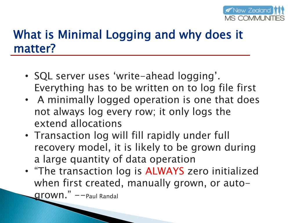 What is Minimal Logging and why does it matter?