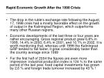 rapid economic growth after the 1998 crisis