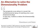 an alternative to solve the dimensionality problem