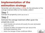 implementation of the estimation strategy1