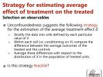 strategy for estimating average effect of treatment on the treated selection on observables