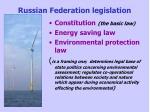 russian federation legislation