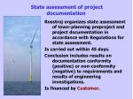 state assessment of project documentation2