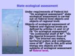 state ecological assessment