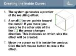 creating the inside curve