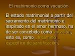 el matrimonio como vocaci n