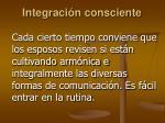 integraci n consciente