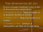 tres dimensiones del don