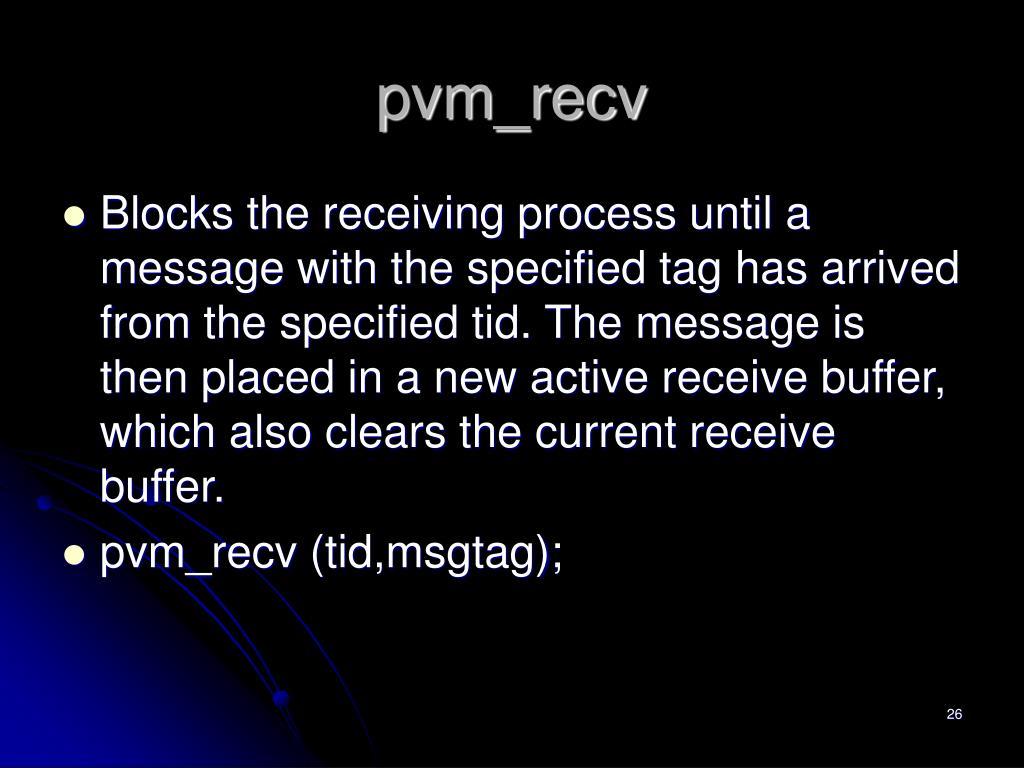 pvm_recv
