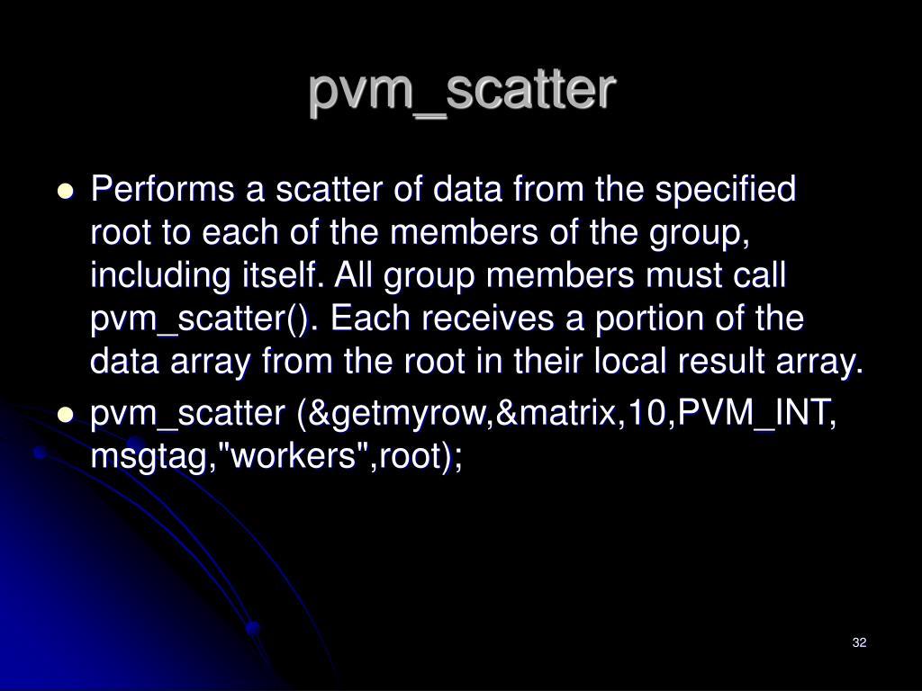 pvm_scatter