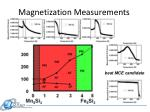magnetization measurements
